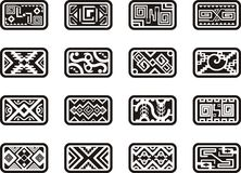 Mexican ornamental designs. A set of 16 Mexican ornamental designs Royalty Free Stock Images
