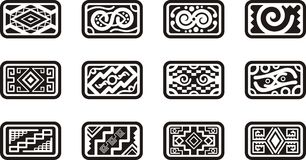 Mexican ornamental designs. A set of 12 Mexican ornamental designs Royalty Free Stock Photography