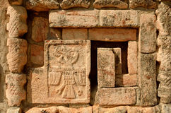 Mexican ornaments and symbols on the pyramids of the Maya of Yuc Stock Photos