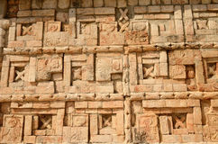 Mexican ornaments and symbols on the pyramids of the Maya of Yuc Stock Image