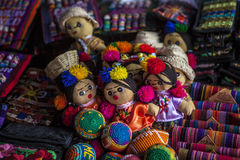 Mexican otomi dolls, headband, hairband Stock Photo