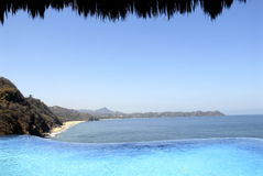 Mexican Pacific Beach View. Incredible view from an 18 million house to the mexican pacific royalty free stock images