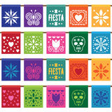 Mexican paper bunting Stock Image