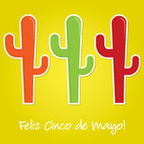 Mexican paper cut out card Stock Images