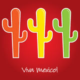 Mexican paper cut out card Royalty Free Stock Images