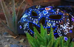 Mexican Paper Mache pumpkin for Day of the Dead Stock Photo
