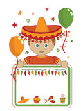 Mexican party card vector illustration