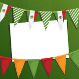 Mexican party card. With bunting and space for text Royalty Free Stock Photo