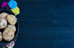 Mexican party, dead bread day of the dead. Mexican party Royalty Free Stock Photo