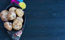 Mexican party, dead bread day of the dead. Mexican party Royalty Free Stock Images