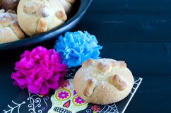 Mexican party, dead bread day of the dead. royalty free stock photography