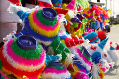 Mexican party pinatas tissue colorful paper Stock Photo