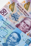 Mexican Pasos - Banknotes of Mexico Royalty Free Stock Photography