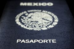 Mexican passport in a black background royalty free stock image