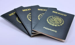 Mexican Passports Royalty Free Stock Photo