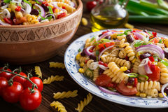 Free Mexican Pasta Salad With Red Bean, Corn, Tomato, Onion And Pepper Royalty Free Stock Photo - 74539615