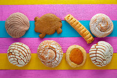 Mexican pastries concha puerquito ojo buey Royalty Free Stock Photo