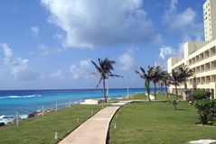 Mexican path at the seashore Royalty Free Stock Image