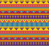 Mexican pattern. Seamless fancy bright colored pattern in mexican style Stock Image