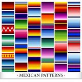 Mexican Pattern Set royalty free illustration