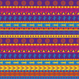 Mexican pattern. Vector seamless mexican pattern in bright color scheme royalty free illustration