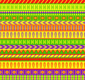 Mexican pattern. Vector semaless pattern in mexican style in vivid color scheme Royalty Free Stock Photography