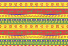 Mexican pattern. Vivid traditional mexican style seamless vector pattern Stock Image