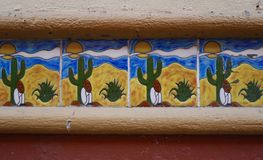 Mexican Patterned Tiles Royalty Free Stock Photo