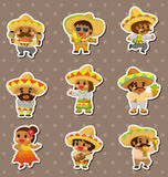 Mexican people stickers Stock Image