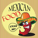 Mexican pepper cartoon character Stock Photo
