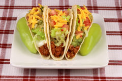 Mexican perfect tacos Royalty Free Stock Photo