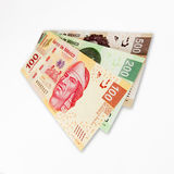 Mexican peso bills. Royalty Free Stock Photo