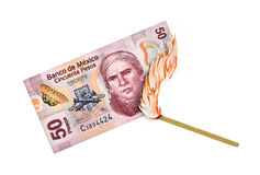 Mexican Peso Burn Royalty Free Stock Images