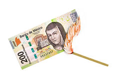Mexican Peso Burn Royalty Free Stock Image