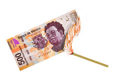 Mexican Peso Burn Stock Photo