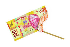 Mexican Peso Burn Royalty Free Stock Photos