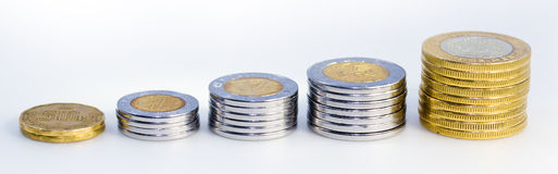 Mexican Peso Growth graph Stock Photography