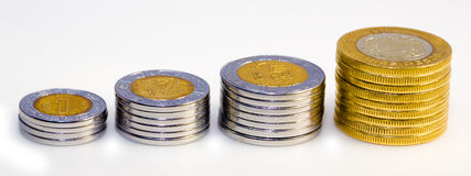 Mexican Peso Growth graph Stock Photos