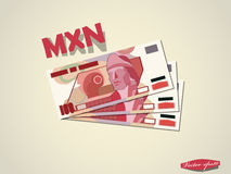Mexican peso money paper minimal vector graphic design Stock Photography