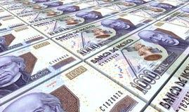 Mexican pesos bills stacks background. Royalty Free Stock Photos