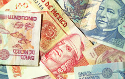 Mexican Pesos de Mexico Royalty Free Stock Photo