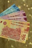 Mexican pesos from latin american Royalty Free Stock Photos