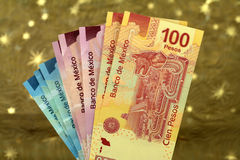 Mexican pesos from latin american Royalty Free Stock Images