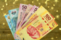 Mexican pesos from latin american Stock Photography