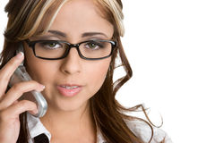 Mexican Phone Woman Royalty Free Stock Image
