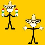 Mexican pictogram cartoon3 Stock Images