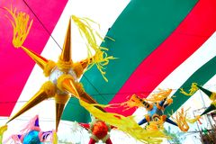 Mexican pinata in mexico flag background Stock Photography