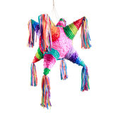 Mexican pinata used in posadas and birthdays. Colorful mexican pinata used in birthdays isolated on white Stock Images