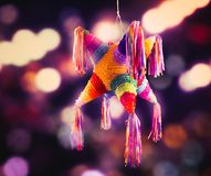 Mexican pinata used in posadas and birthdays. Colorful mexican pinata used in birthdays and posadas Stock Images