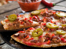Mexican pizza Royalty Free Stock Photos